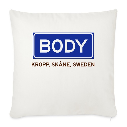 Kropp, Badly Translated - Soffkuddsöverdrag, 45 x 45 cm