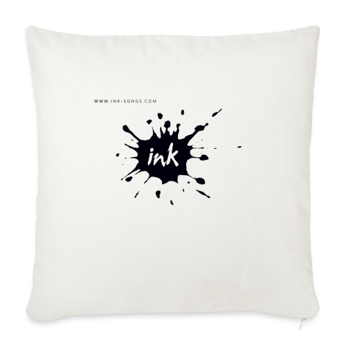 Ink Logo and website - Sofa pillowcase 17,3'' x 17,3'' (45 x 45 cm)