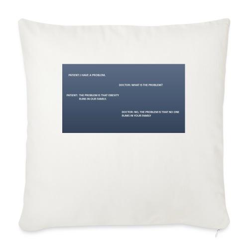 Running joke t-shirt - Sofa pillowcase 17,3'' x 17,3'' (45 x 45 cm)