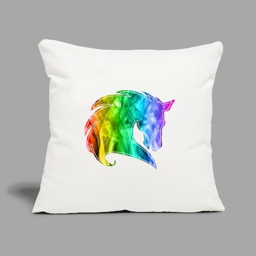 Rainbow Horse - Copricuscino per divano, 45 x 45 cm