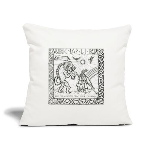 Le Dieu Odin contre le loup Fenrir - Housse de coussin décorative 45x 45cm