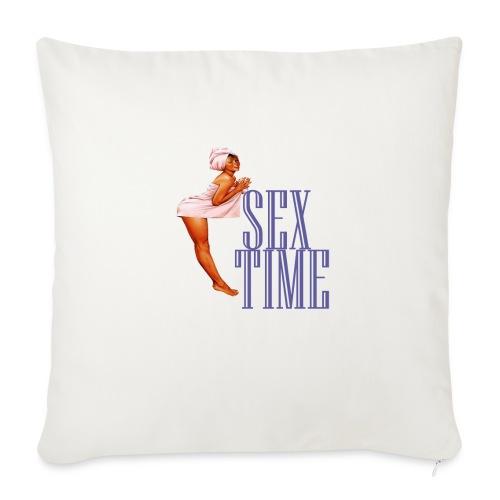 SEX TIME - Funda de cojín, 45 x 45 cm