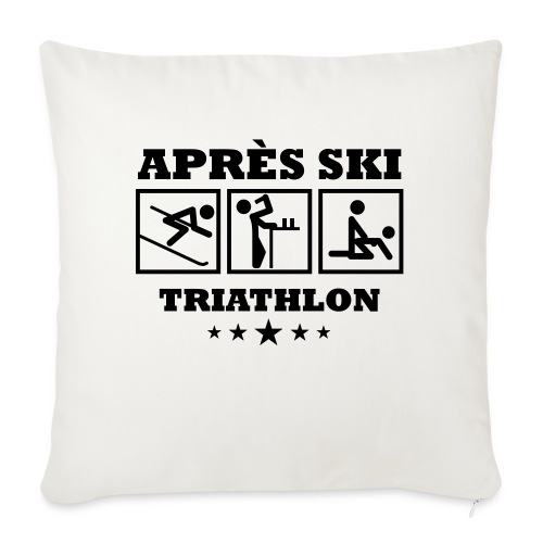 Apres Ski Triathlon | Apreski-Shirts gestalten - Sofakissenbezug 44 x 44 cm