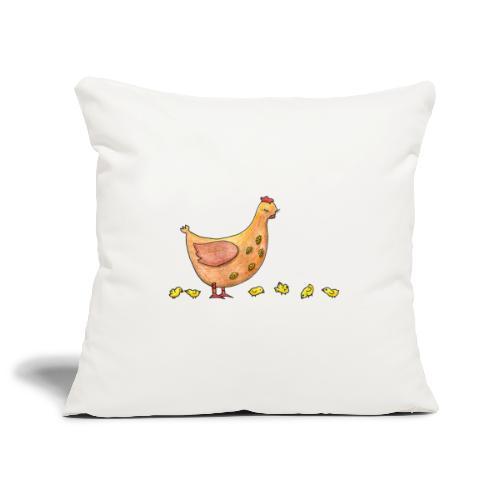 Mère poule - Housse de coussin décorative 45x 45cm