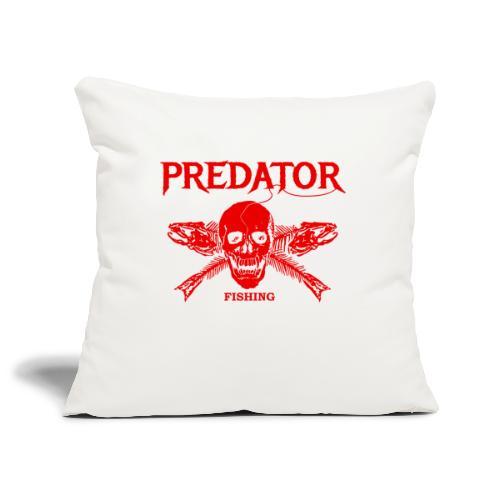 Predator fishing red - Sofakissenbezug 44 x 44 cm