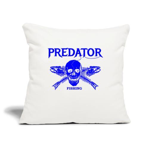 Predator fishing blue - Sofakissenbezug 44 x 44 cm