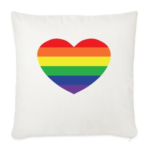 Rainbow heart - Sofa pillowcase 17,3'' x 17,3'' (45 x 45 cm)