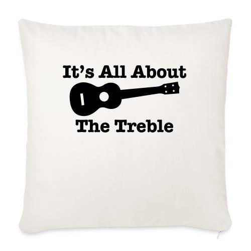 Ukulele Treble 2 - Sofa pillowcase 17,3'' x 17,3'' (45 x 45 cm)