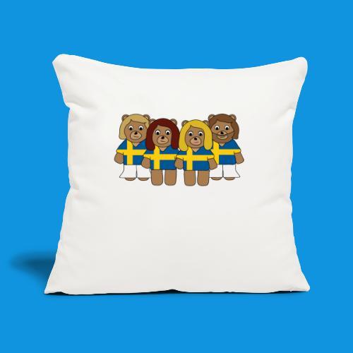 Abba Sweden Bears.png - Sofa pillowcase 17,3'' x 17,3'' (45 x 45 cm)