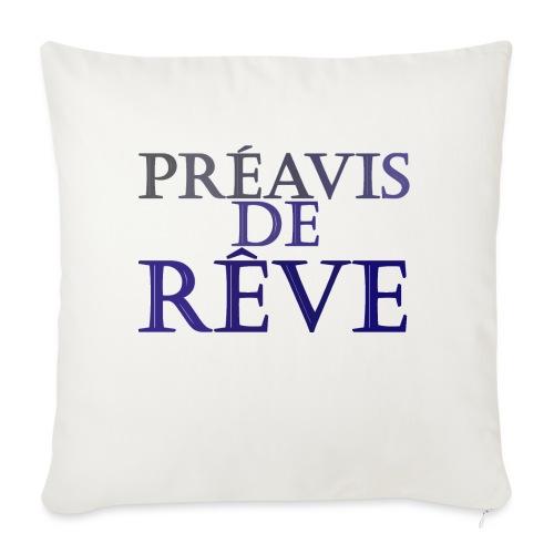 préavis de rêve (bleu) - Housse de coussin décorative 45x 45cm