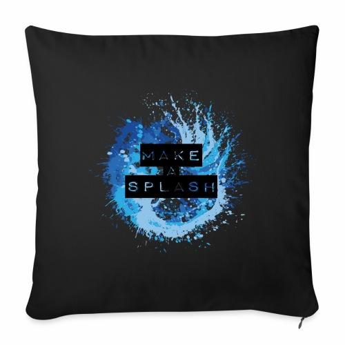 Make a Splash - Aquarell Design in Blau - Sofakissenbezug 44 x 44 cm