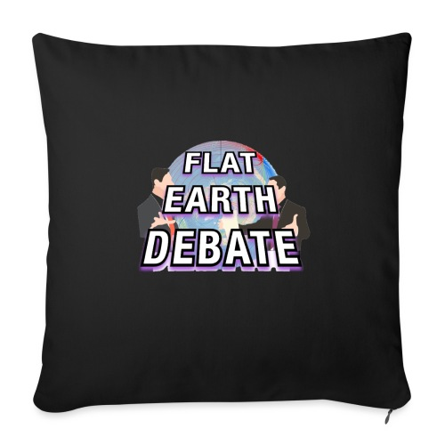 Flat Earth Debate Solid - Sofa pillowcase 17,3'' x 17,3'' (45 x 45 cm)