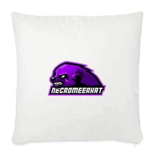 Necromeerkat logo + texte - Housse de coussin décorative 45x 45cm