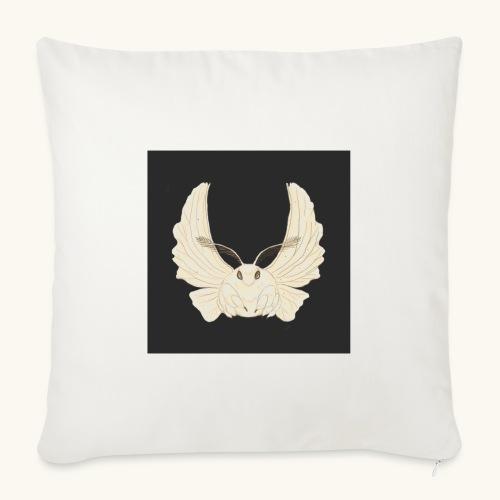 Papillon de nuit fond noir - Housse de coussin décorative 45x 45cm