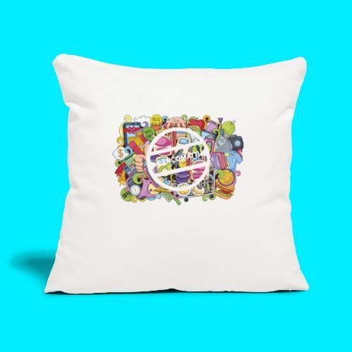 maglia logo doodle - Copricuscino per divano, 45 x 45 cm