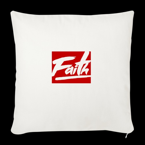 Faith Red - Funda de cojín, 45 x 45 cm