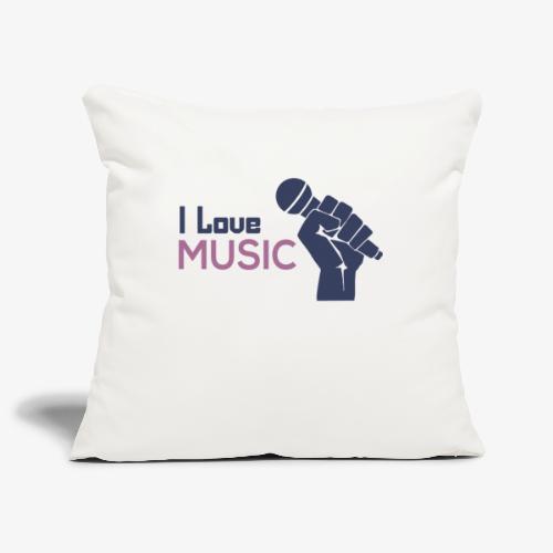 Amo la música - Funda de cojín, 45 x 45 cm