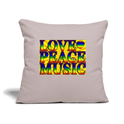 Love Peace and Music - Sofa pillowcase 17,3'' x 17,3'' (45 x 45 cm)