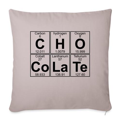 C-H-O-Co-La-Te (chocolate) - Full - Sofa pillowcase 17,3'' x 17,3'' (45 x 45 cm)