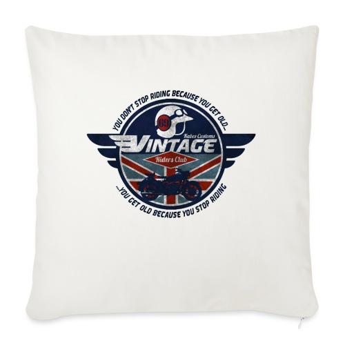 Kabes Vintage Riders Club - Sofa pillowcase 17,3'' x 17,3'' (45 x 45 cm)