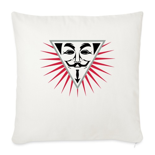 Anonymous NWO logo 3c - Housse de coussin décorative 45x 45cm
