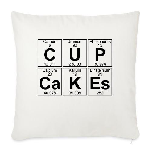 C-U-P-Ca-K-Es (cupcakes) - Full - Sofa pillowcase 17,3'' x 17,3'' (45 x 45 cm)
