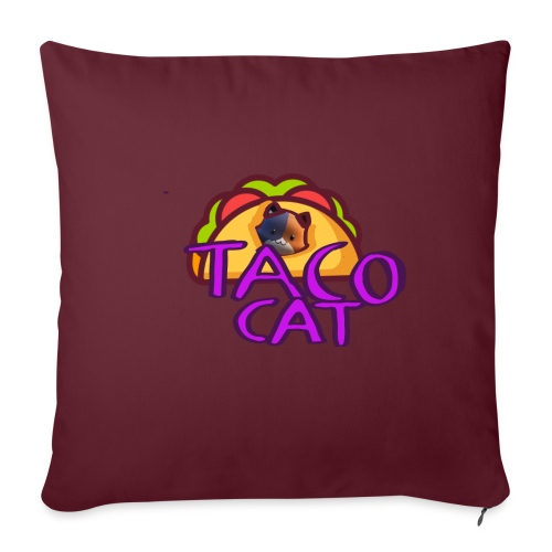 TACO CAT - Soffkuddsöverdrag, 45 x 45 cm