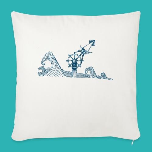 Carta_timone_blu-png - Copricuscino per divano, 45 x 45 cm