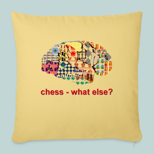 chess_what_else - Sofakissenbezug 44 x 44 cm