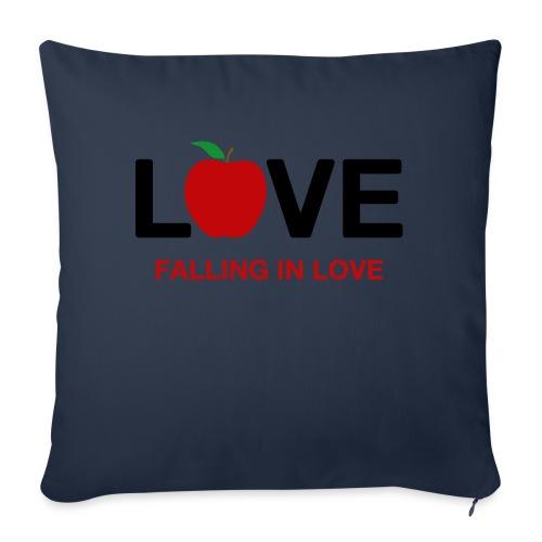 Falling in Love - Black - Sofa pillowcase 17,3'' x 17,3'' (45 x 45 cm)