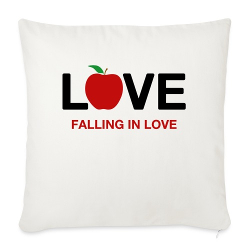Falling in Love - Black - Sofa pillowcase 17,3'' x 17,3'' (45 x 45 cm)