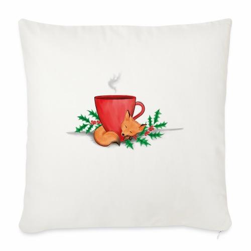Świąteczny lisek - Poszewka na poduszkę 45 x 45 cm