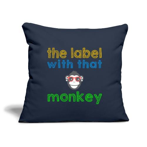 the label with that monkey - Sofakissenbezug 44 x 44 cm