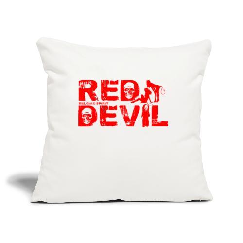 BELGIAN-RED-DEVIL - Housse de coussin décorative 45x 45cm