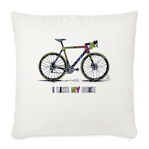 CycloCross I LIKE MY BIKE - Sofakissenbezug 44 x 44 cm