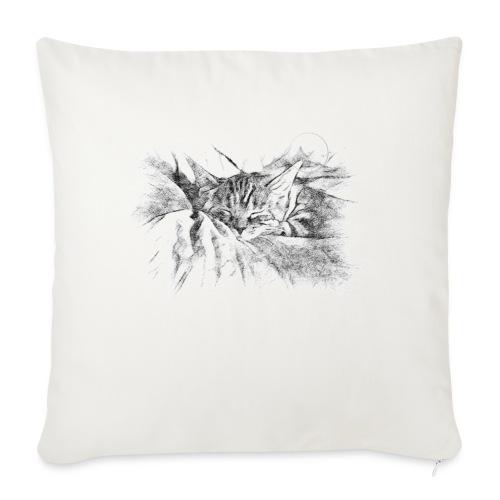 Chat dormeur - Housse de coussin décorative 45x 45cm