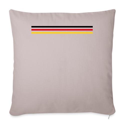 Trait Allemagne version 2 - Housse de coussin décorative 45x 45cm
