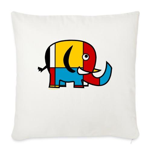Mondrian Elephant - Sofa pillowcase 17,3'' x 17,3'' (45 x 45 cm)