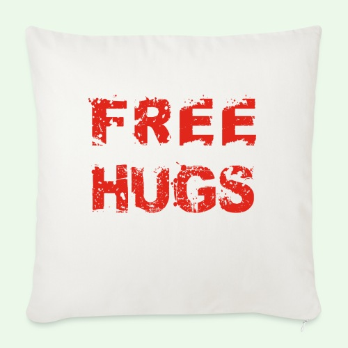 Free Hugs // Flirten // T-Shirt - Sofakissenbezug 44 x 44 cm