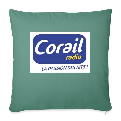 Logo bleu - Housse de coussin décorative 45x 45cm