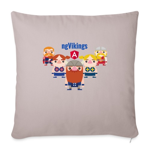 Viking Friends - Sofa pillowcase 17,3'' x 17,3'' (45 x 45 cm)