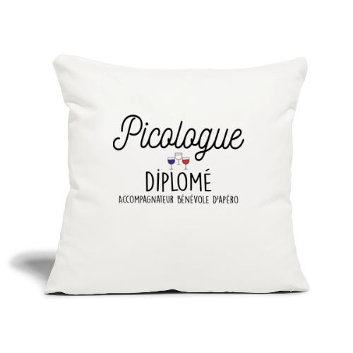 APÉRO PICOLOGUE DIPLOMÉ - Housse de coussin décorative 45x 45cm