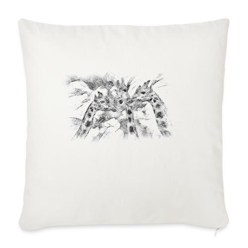 les girafes bavardes - Housse de coussin décorative 45x 45cm