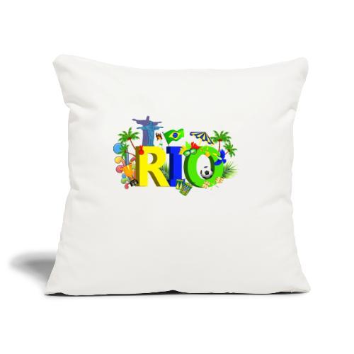 Rio de Janeiro Summer - Sofa pillowcase 17,3'' x 17,3'' (45 x 45 cm)