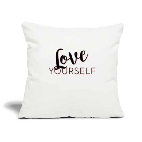 Love Yourself -Schriftzug Pascal Voggenhuber - Sofakissenbezug 44 x 44 cm