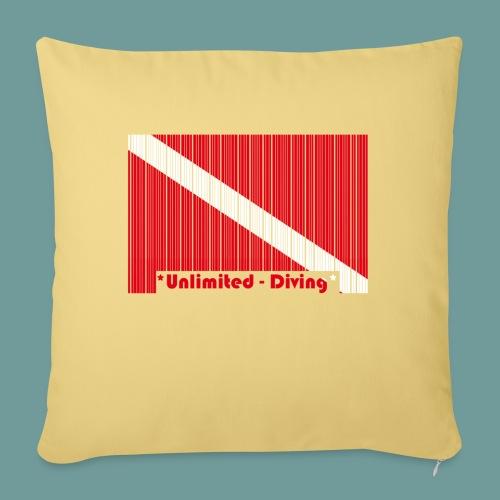 flag_barre_ud - Housse de coussin décorative 45x 45cm