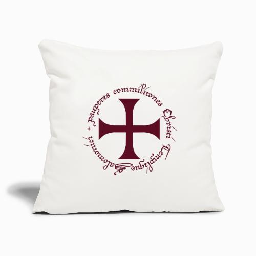 Ordre des Templiers - Housse de coussin décorative 45x 45cm
