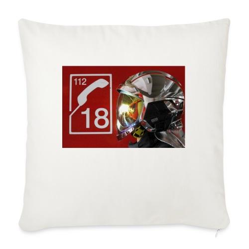 pompier 18 - Housse de coussin décorative 45x 45cm