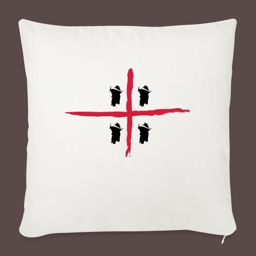 Sardegna Bendata, 4 Mori orizzontale - Copricuscino per divano, 45 x 45 cm