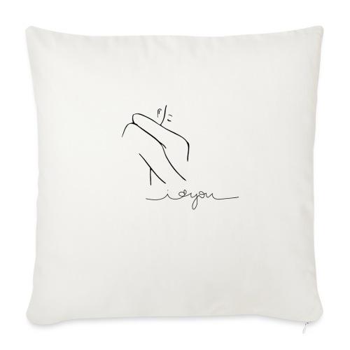 Regalo San Valentino Coppia | Sagome Abbracciate - Copricuscino per divano, 45 x 45 cm